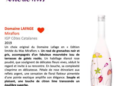 Juillet/août 2020: Coup de coeur pour l'édition limitée du Miraflors 2019