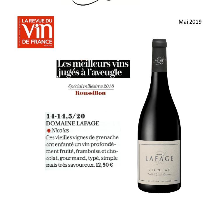 Mai 2019: Les meilleurs vins jugés à l'aveugle – Nicolas 2018