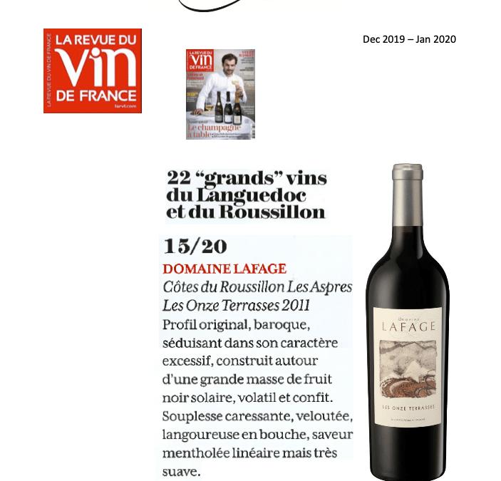 Décembre 2019: 22 «grands» vins du Languedoc et du Roussillon – Les Onze Terrasses 2011