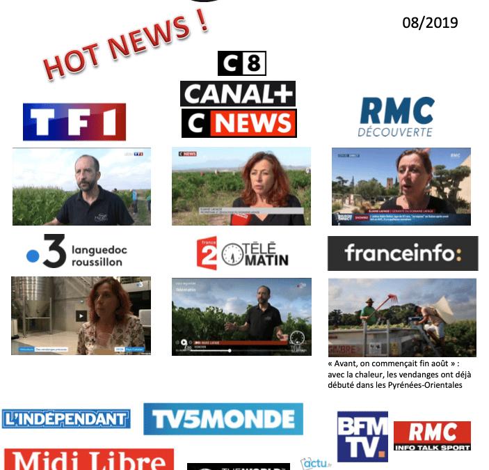 Les chaînes de télévisions dans nos vignes