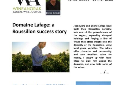 Jamie Goode Interview about Domaine Lafage's story