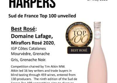 May 2021 – Miraflors elected Best Rosé !