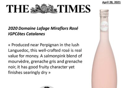 April 2021 – Will Lyons' review about Miraflors Rosé