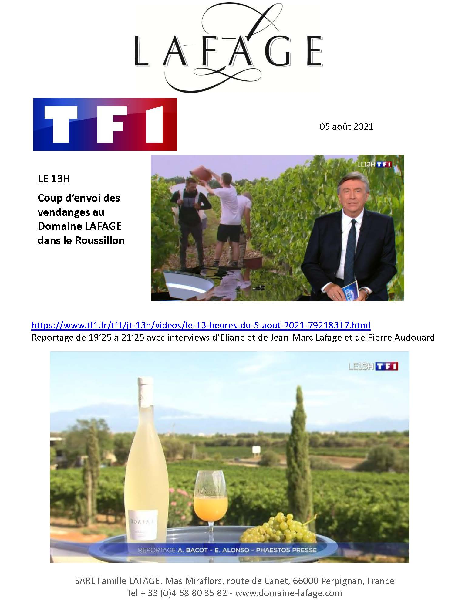 TF1 vendanges